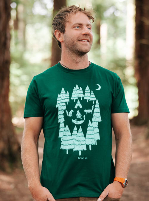 Foxes in the forest Mens T-shirt