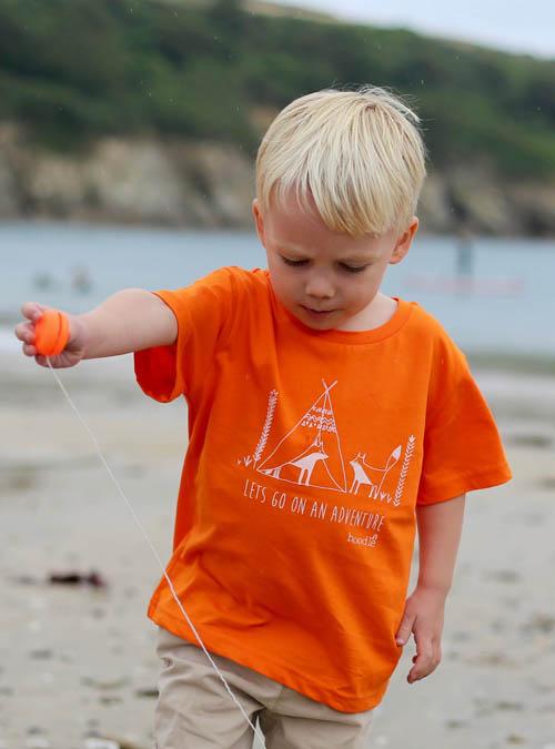 Adventure orange organic kids T-shirt
