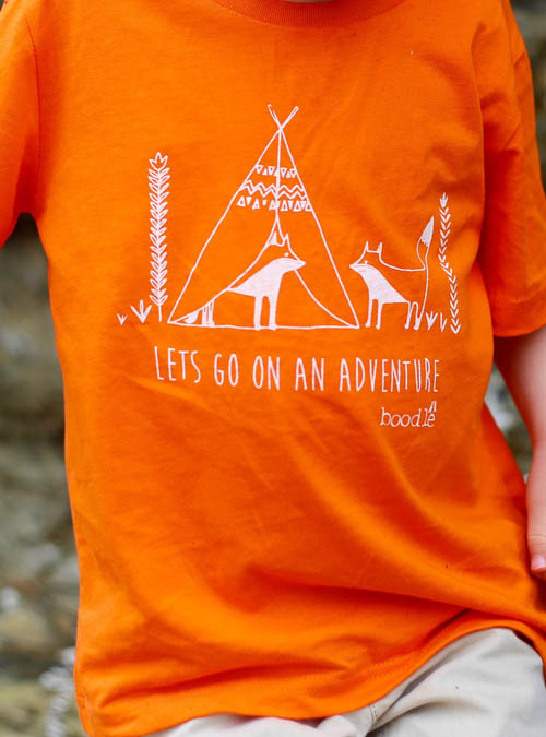 Lets goon adventure kids T-shirt close up