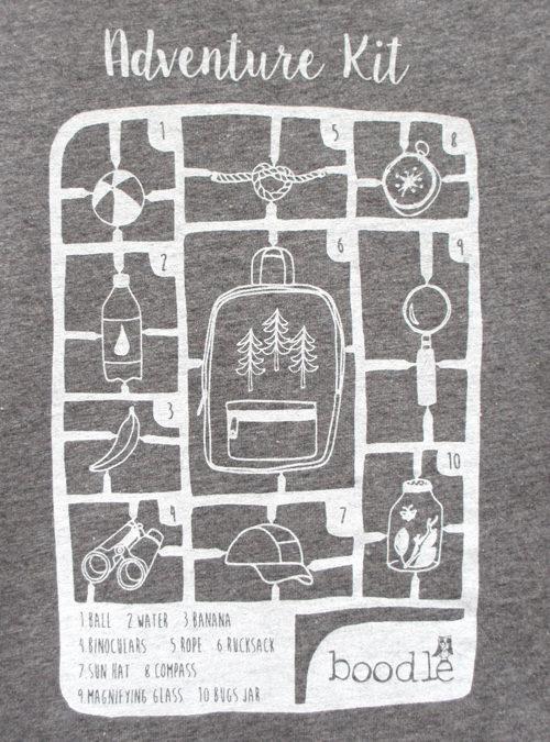 Adventure kit kids T-shirt close up