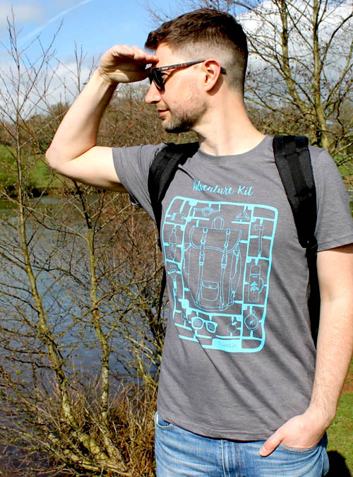 Adventure kit recycled cotton mens T-shirt