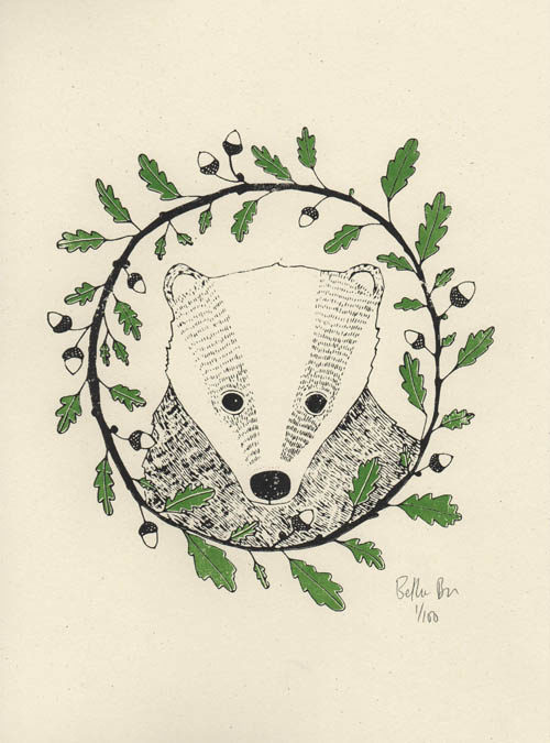 badger screen print
