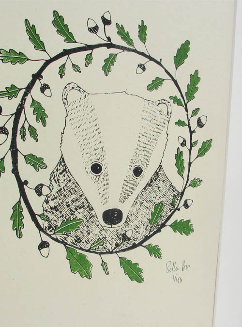 badger and oak print