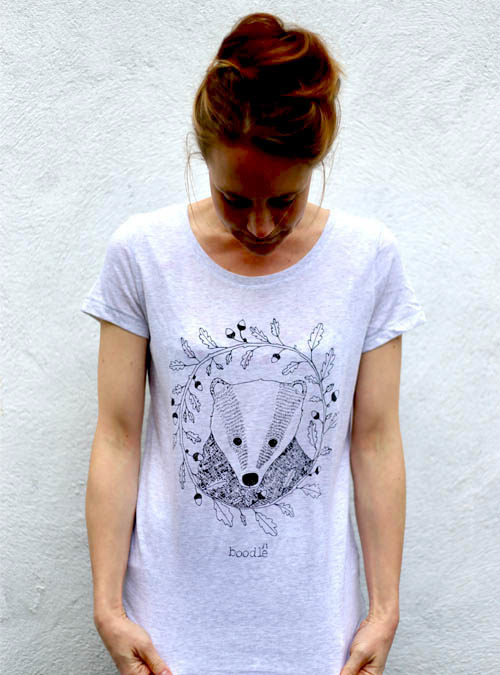 Womens organic Badger T-shirt