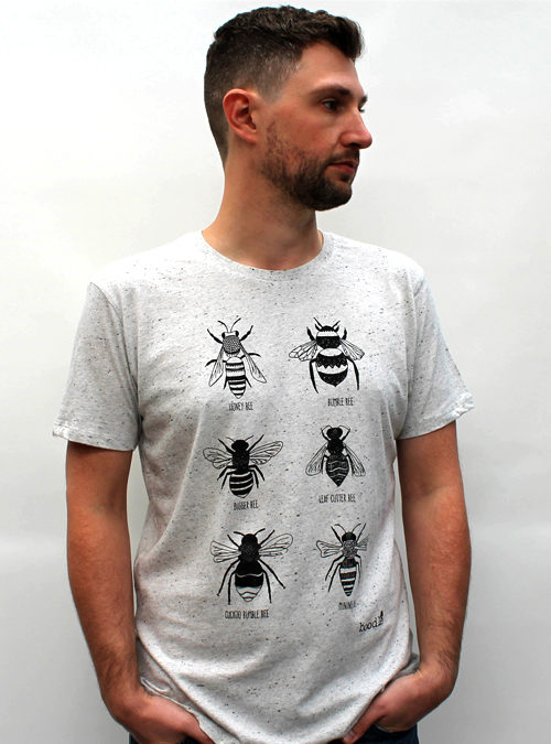 Mens Bee T-shirt against a white background