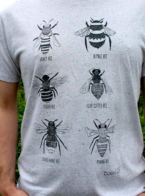 close up of mens Bee T-shirt