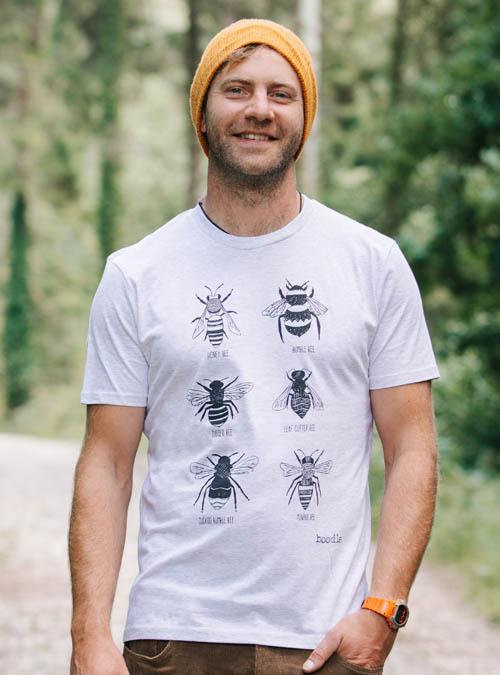 Mens organic Bee T-shirt