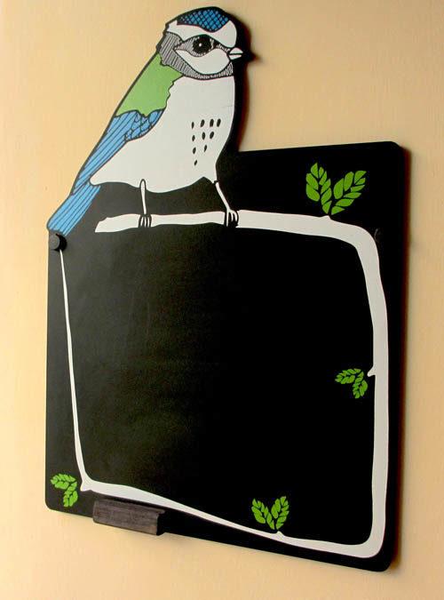 fun bird chalkboard