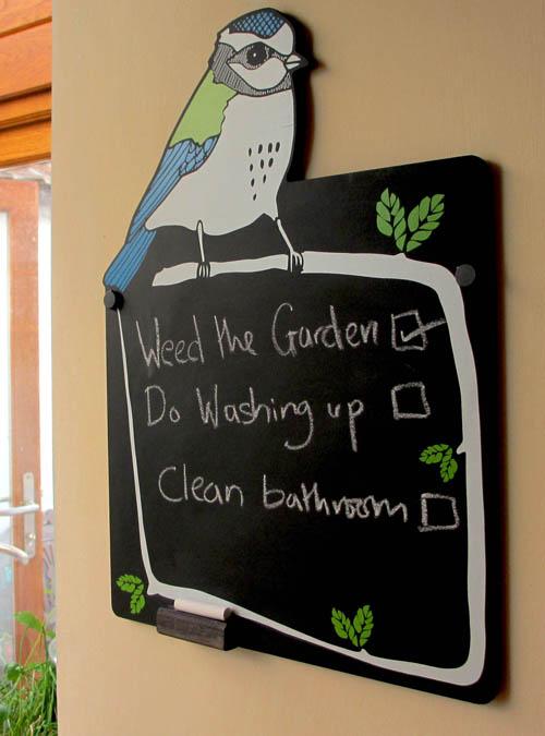 bird kitchen chalkboard