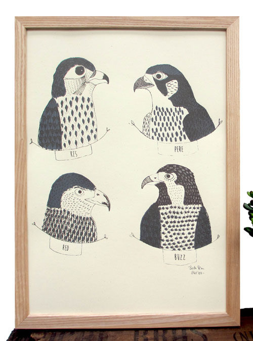 birds of prey print