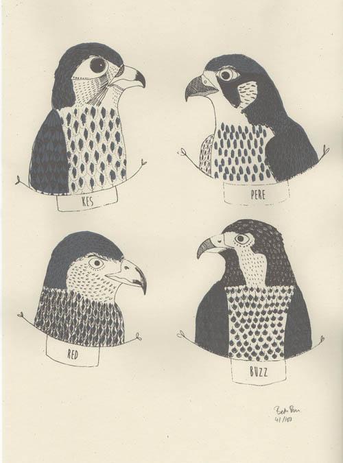 birds of prey wall art