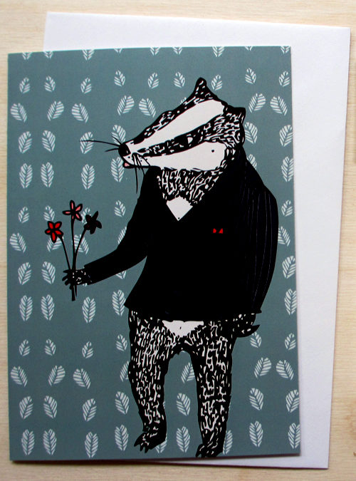 bob the badger card