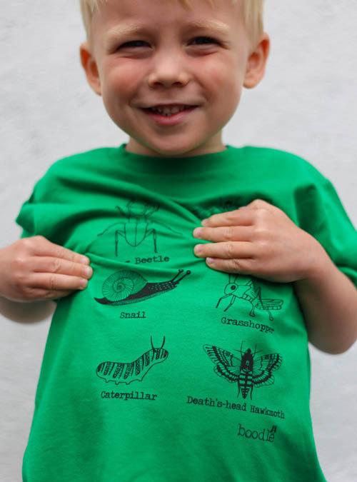creepy crawly kids t-shirt