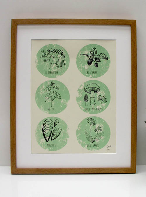 foraging wall art