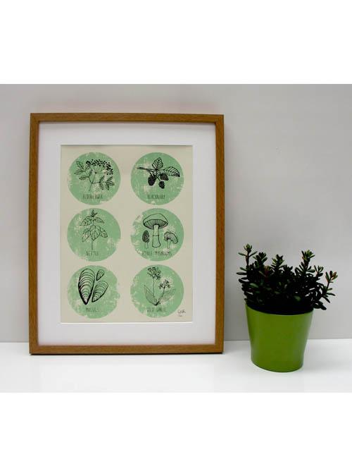 foraging print