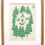 foxes in the forest print