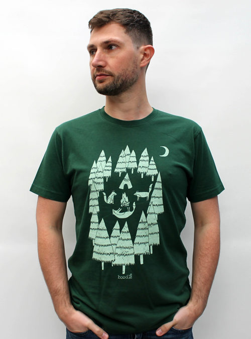 foxes in the forest, Mens T-shirt, organic cotton, mens fashion, boodle, boodle boutique, Bristol, Bristol T-shirts, organic cotton, eco fashion