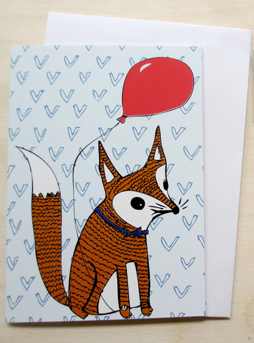 foxes party card