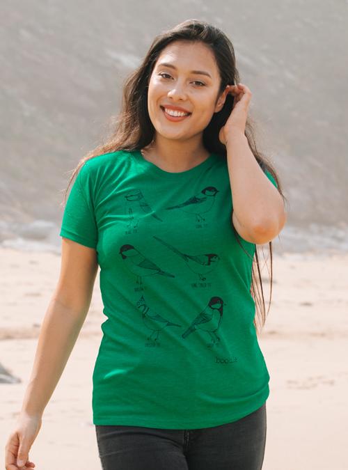 Garden birds womens T-shirt