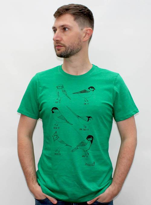 garden bird mens t-shirt white background