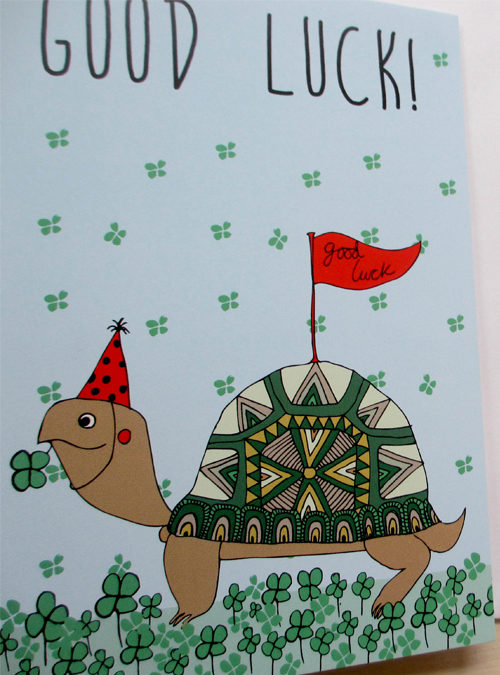 good luck tortoise card