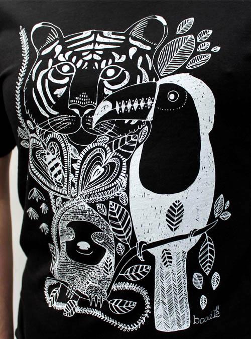 Jungle mens T-shirt close up