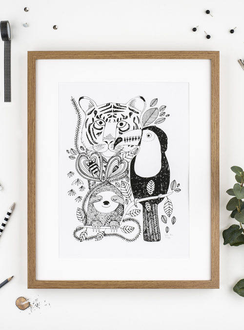 Jungle A3 print