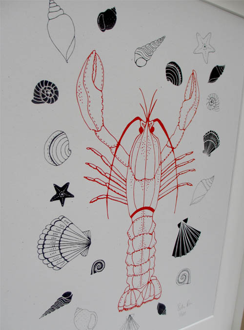 lobster print detail