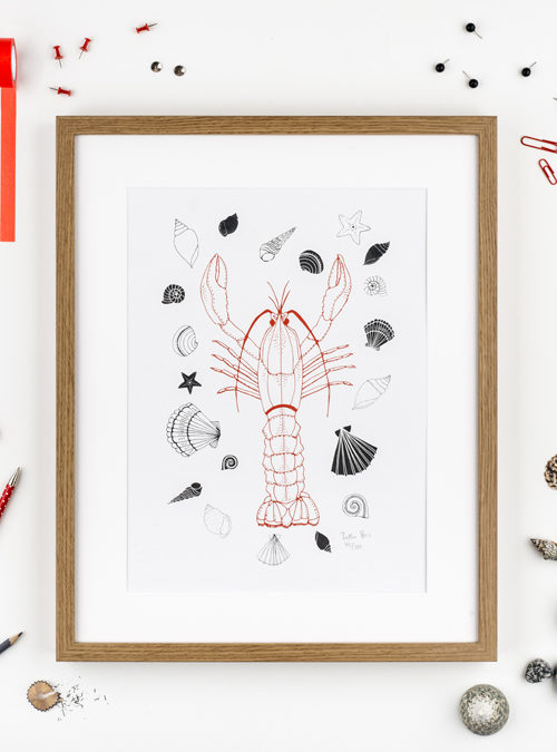 lobster A3 print