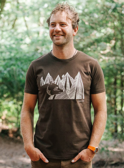 Mountain bear mens T-shirt
