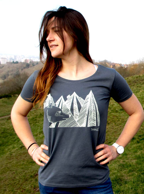 mountain bear womens T-shirt