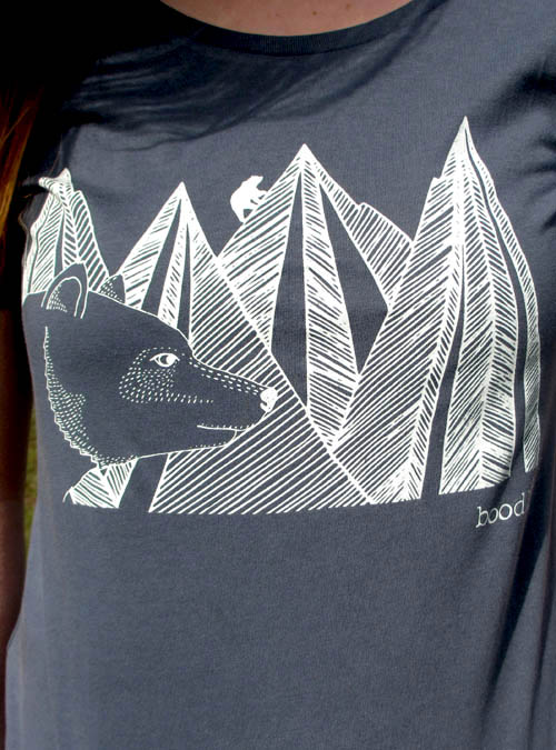 Mountain bear womens organic T-shirt