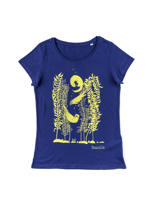 10ff8358 Otter and kelp womens organic T-shirt
