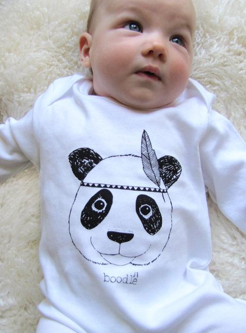 Cute panda baby grow