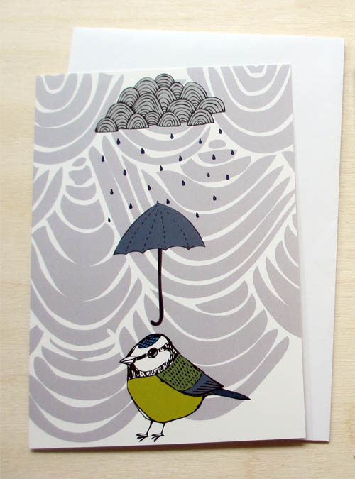 rainy day greetings card