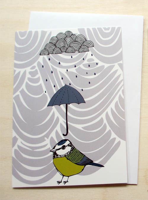 rainy day greetings card