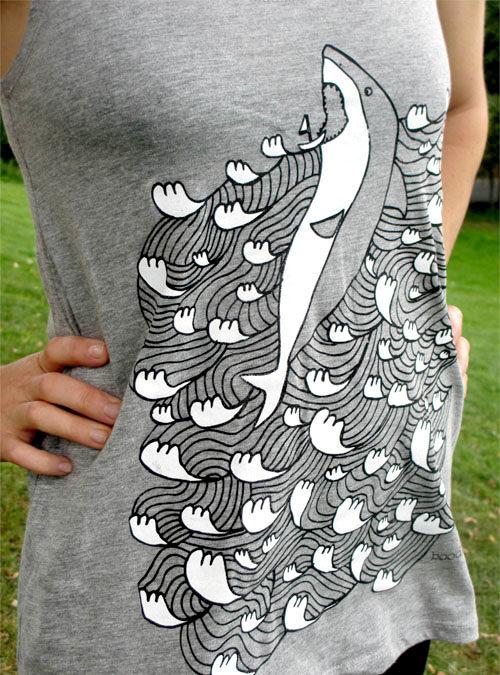 shark vest womens close up