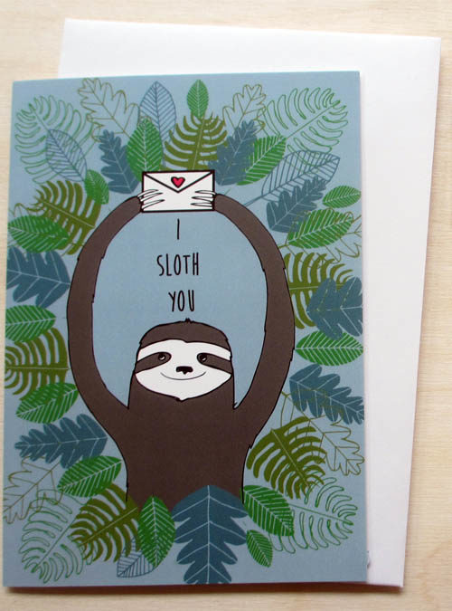 i sloth you greetings card
