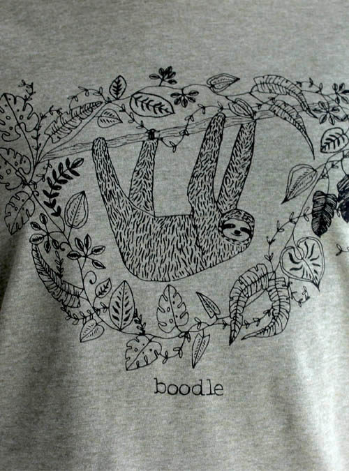 close up of sloth T-shirt