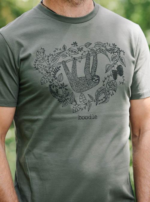 Sloth mens organic T-shirt