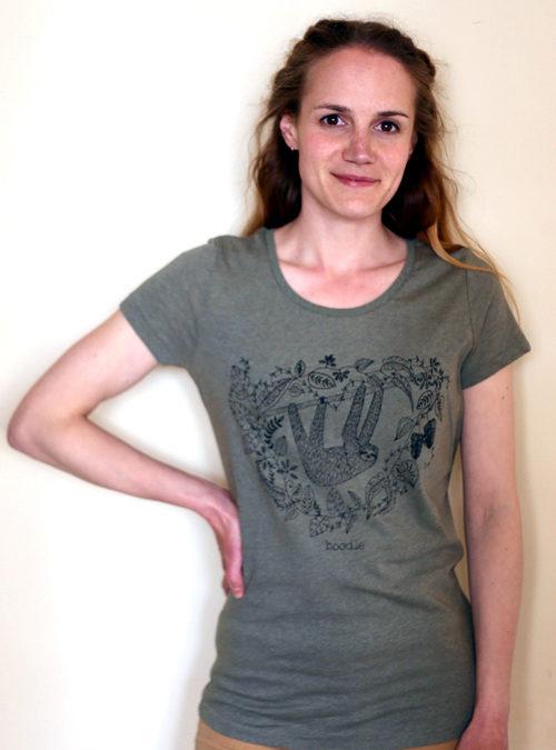 sloth womens organic T-shirt