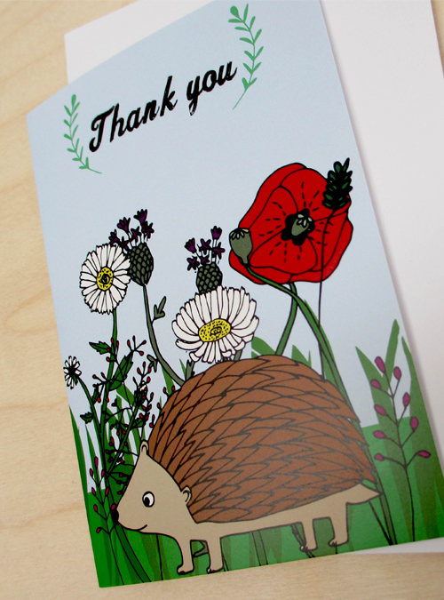 thank you card close up