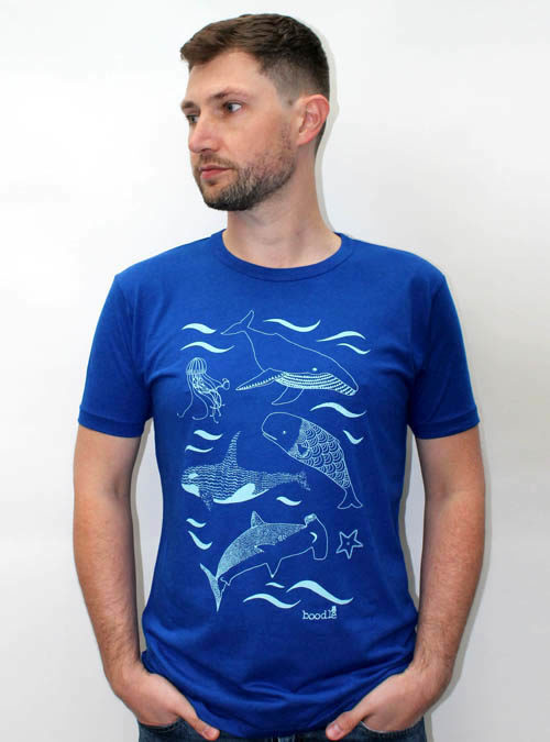 Blue bamboo under the sea T-shirt