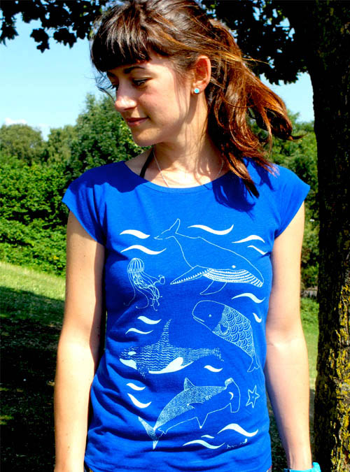 Under the sea womens bamboo T-shirt