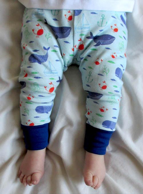 nautical baby leggings