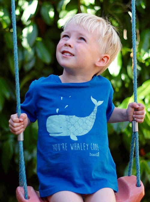 whaley cool kids T-shirt on swing