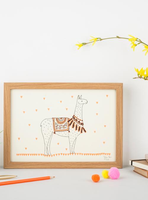 llama screen print