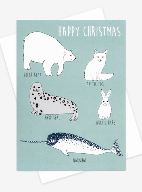 Arctic animals card