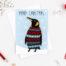 king penguin xmas card