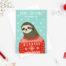 sloth christmas card